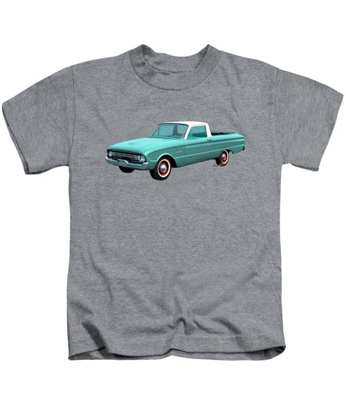 2nd Generation Falcon Ranchero 1960 Kids T-Shirt by Chas Sinklier