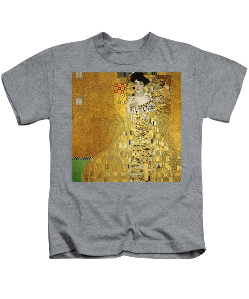 Portrait Of Adele Bloch-bauer I Kids T-Shirt by Gustav Klimt