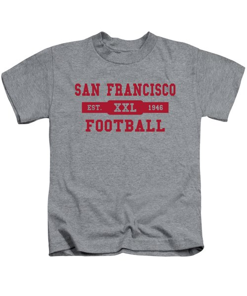 49ers Retro Shirt Kids T-Shirt by Joe Hamilton