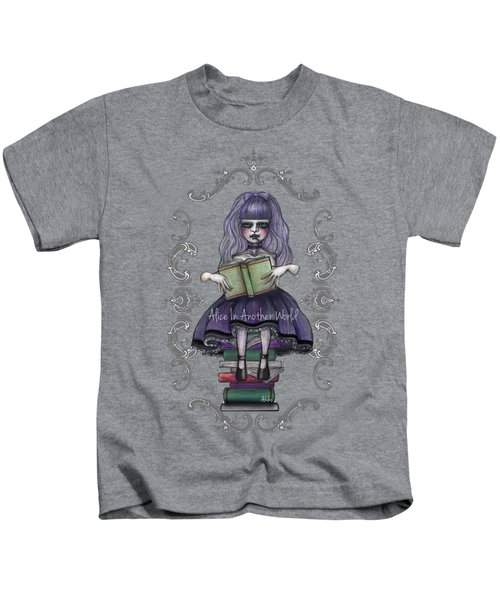 Alice In Another World 2 Kids T-Shirt by Akiko Okabe