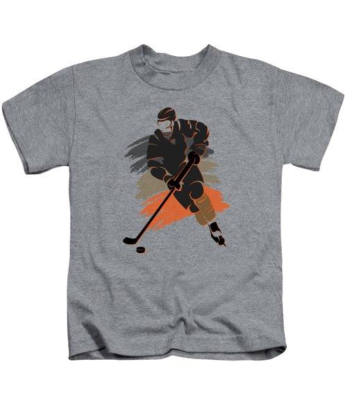 Anaheim Ducks Player Shirt Kids T-Shirt by Joe Hamilton