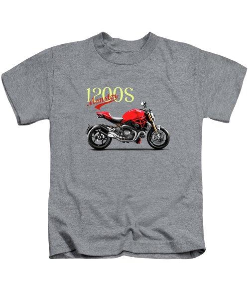 Ducati Monster Kids T-Shirt by Mark Rogan