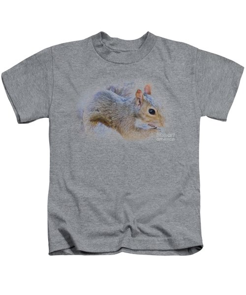 Another Peanut Please - Squirrel - Nature Kids T-Shirt by Barry Jones