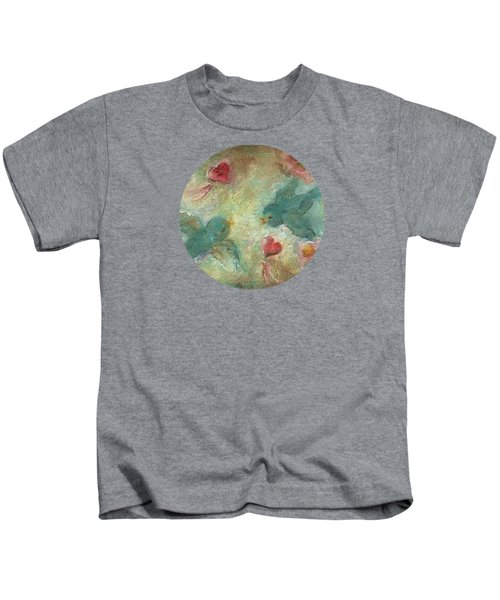 Lovebirds Kids T-Shirt by Mary Wolf