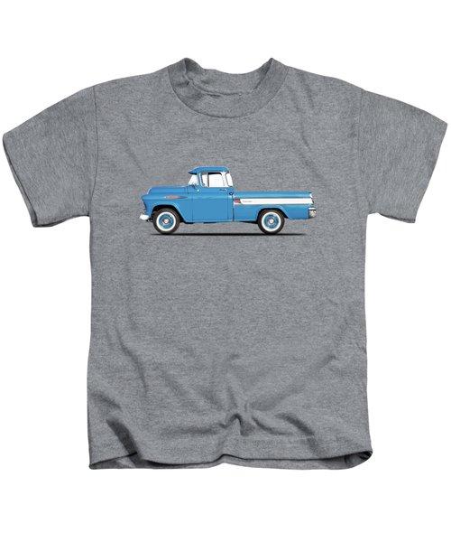 Cameo Pickup 1957 Kids T-Shirt by Mark Rogan
