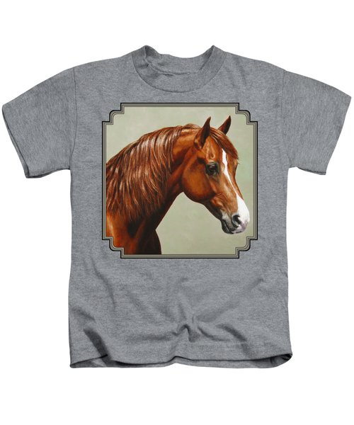 Morgan Horse - Flame Kids T-Shirt by Crista Forest