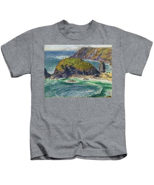 Asparagus Island Kids T-Shirt by William Holman Hunt