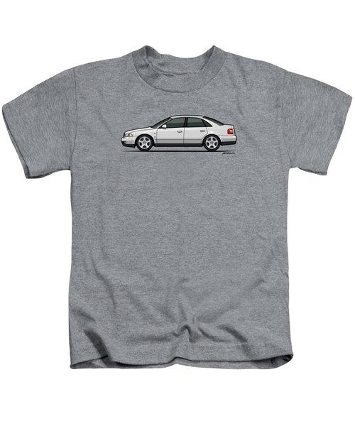 Audi A4 Quattro B5 Type 8d Sedan White Kids T-Shirt by Monkey Crisis On Mars