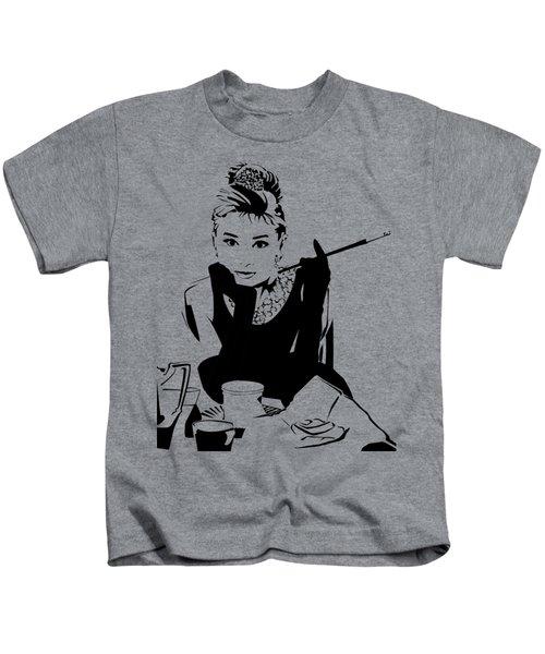 Audrey Hepburn Kids T-Shirt by Ryan Burton