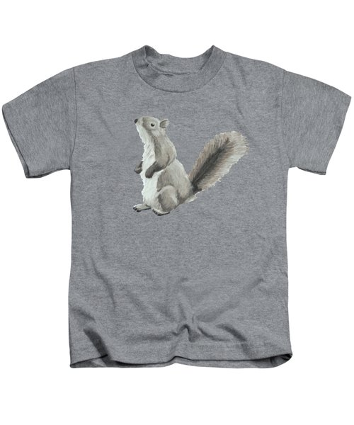 Baby Squirrel Kids T-Shirt by Dominic White