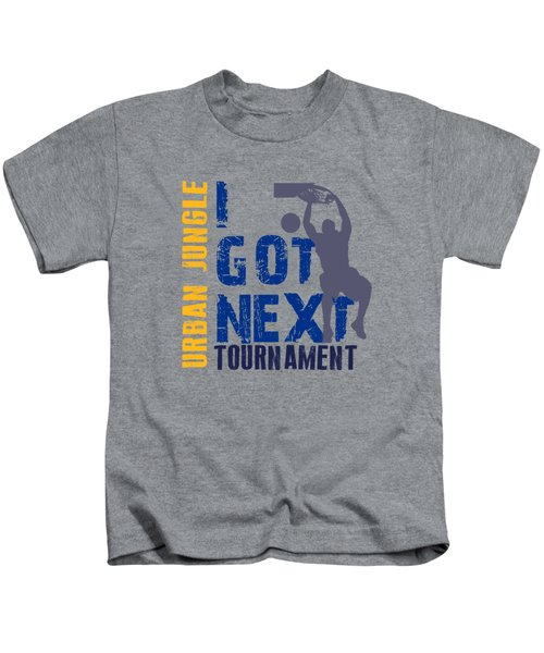 Basketball I Got Next 2 Kids T-Shirt by Joe Hamilton