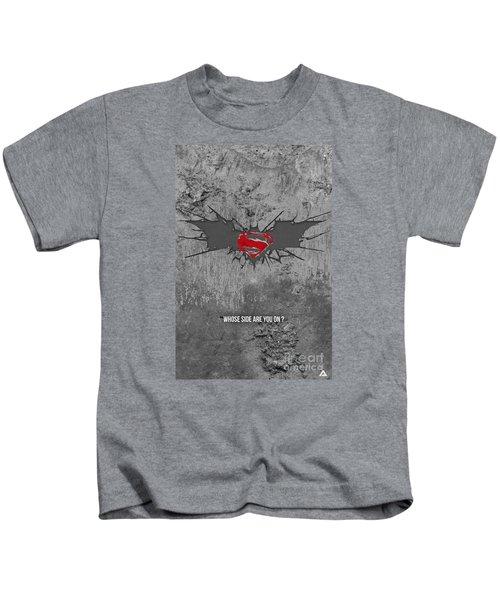 Batman V Superman Kids T-Shirt by Parikshit Deshmukh