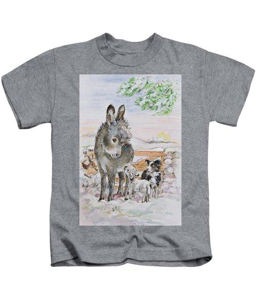 Best Friends Kids T-Shirt by Diane Matthes