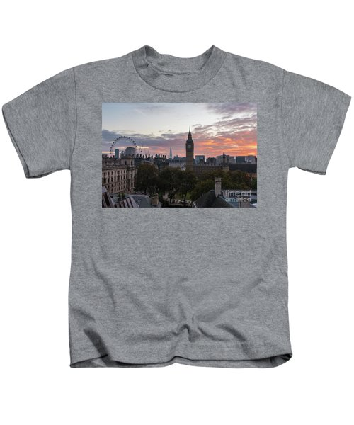 Big Ben London Sunrise Kids T-Shirt by Mike Reid