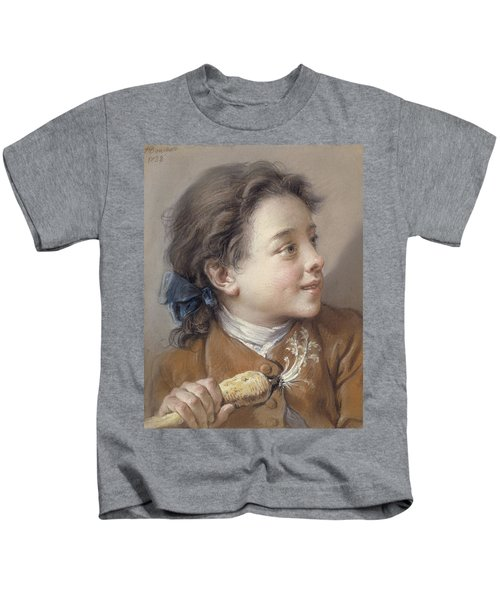 Boy With A Carrot, 1738 Kids T-Shirt by Francois Boucher