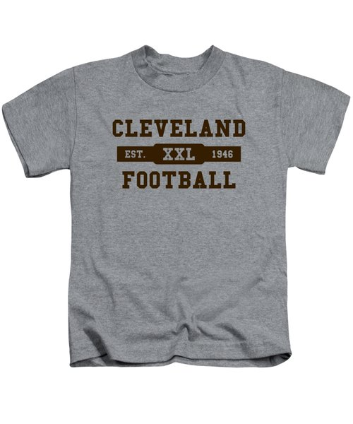 Browns Retro Shirt Kids T-Shirt by Joe Hamilton