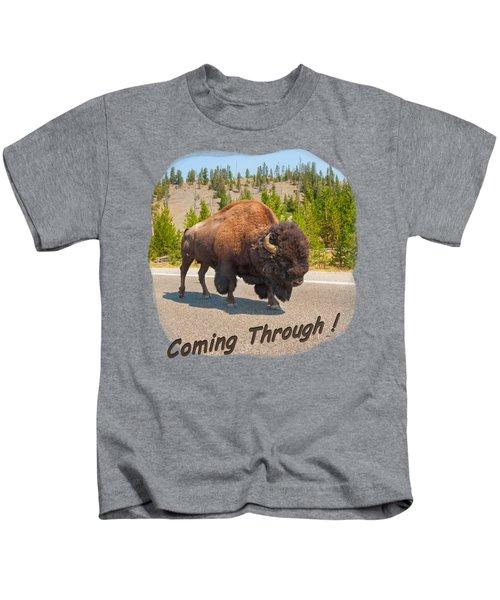 Buffalo Kids T-Shirt by John M Bailey