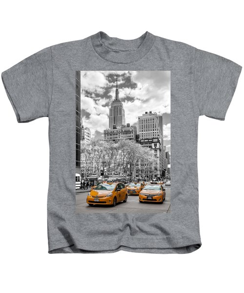 City Of Cabs Kids T-Shirt by Az Jackson