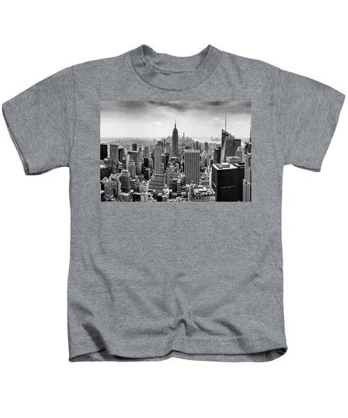 Classic New York  Kids T-Shirt by Az Jackson