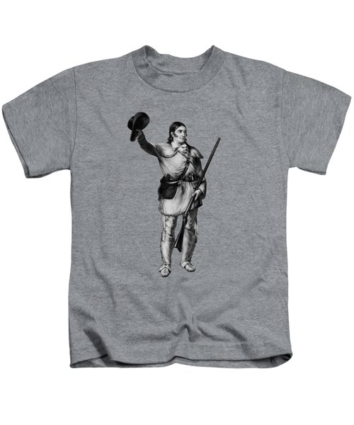 Colonel Davy Crockett Kids T-Shirt by War Is Hell Store