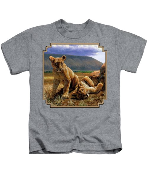 Double Trouble Kids T-Shirt by Crista Forest