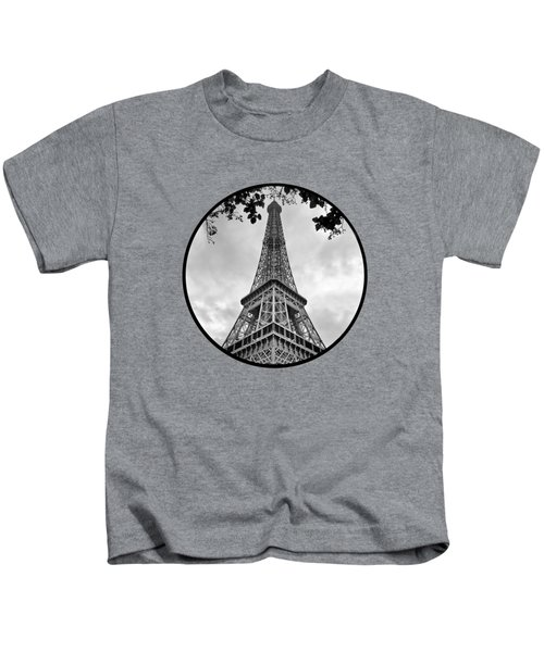 Eiffel Tower - Transparent Kids T-Shirt by Nikolyn McDonald