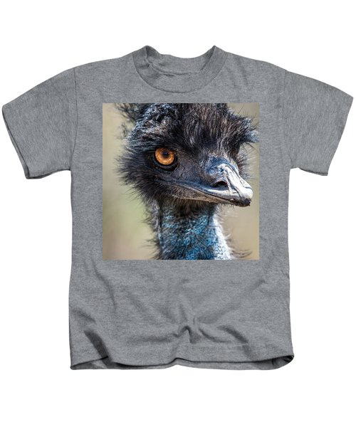Emu Eyes Kids T-Shirt by Paul Freidlund