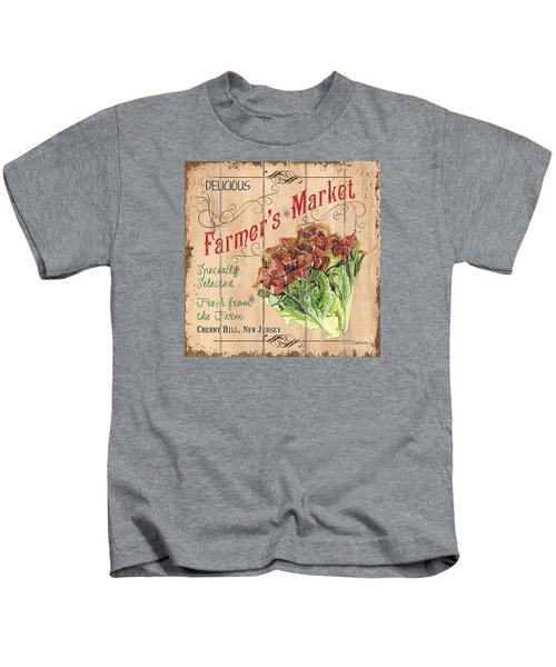 Farmer's Market Sign Kids T-Shirt by Debbie DeWitt