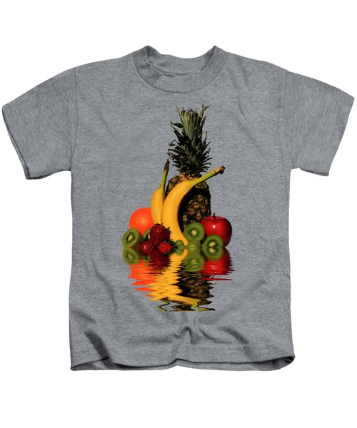 Fruity Reflections - Medium Kids T-Shirt by Shane Bechler