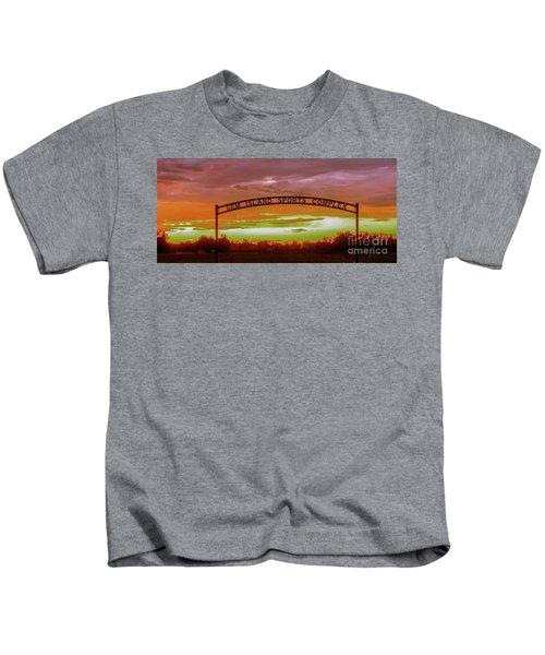 Gem Island Sports Complex Kids T-Shirt by Robert Bales