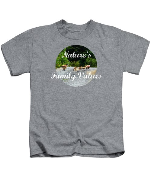 Goose Family Kids T-Shirt by Anita Faye