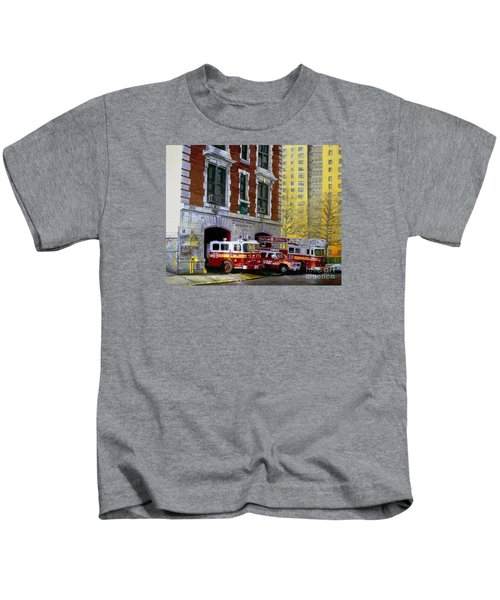 Harlem Hilton Kids T-Shirt by Paul Walsh