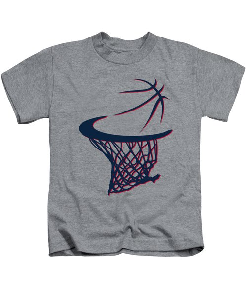 Hawks Basketball Hoop Kids T-Shirt by Joe Hamilton