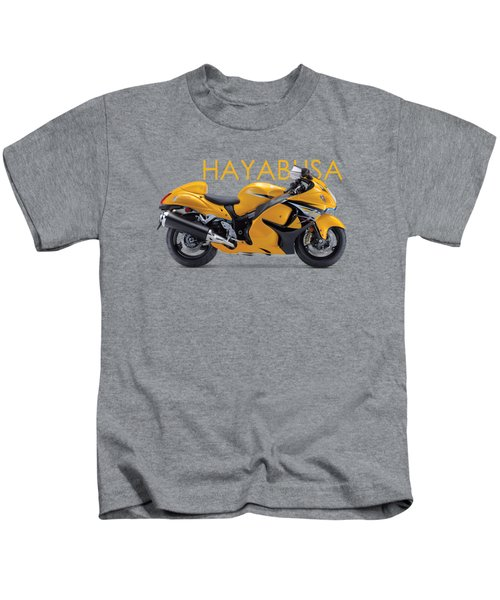 Hayabusa In Yellow Kids T-Shirt by Mark Rogan