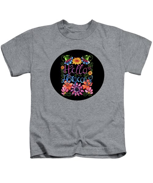 Hello Gorgeous Black  Kids T-Shirt by Shelley Wallace Ylst