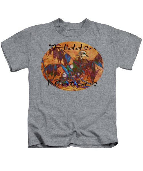 Hidden Nature - Abstract Kids T-Shirt by Anita Faye
