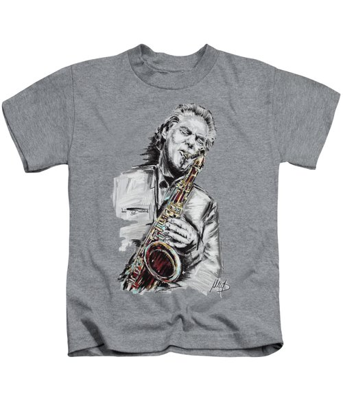 Jan Garbarek Kids T-Shirt by Melanie D
