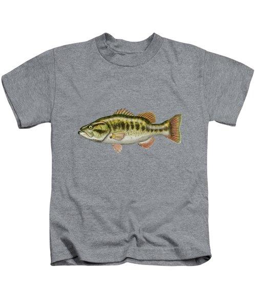 Largemouth Bass Kids T-Shirt by Serge Averbukh