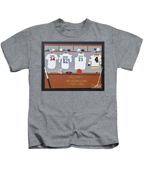 Legends Of New England Kids T-Shirt by Dennis ONeil