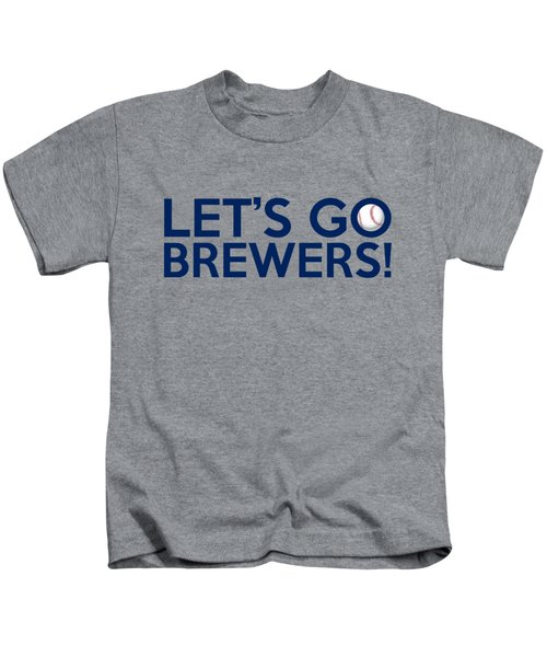 Let's Go Brewers Kids T-Shirt by Florian Rodarte