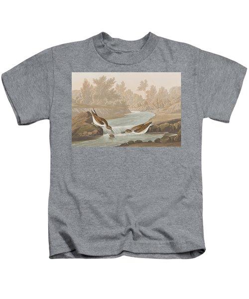 Little Sandpiper Kids T-Shirt by John James Audubon