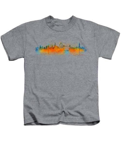 London City Skyline Hq V3 Kids T-Shirt by HQ Photo