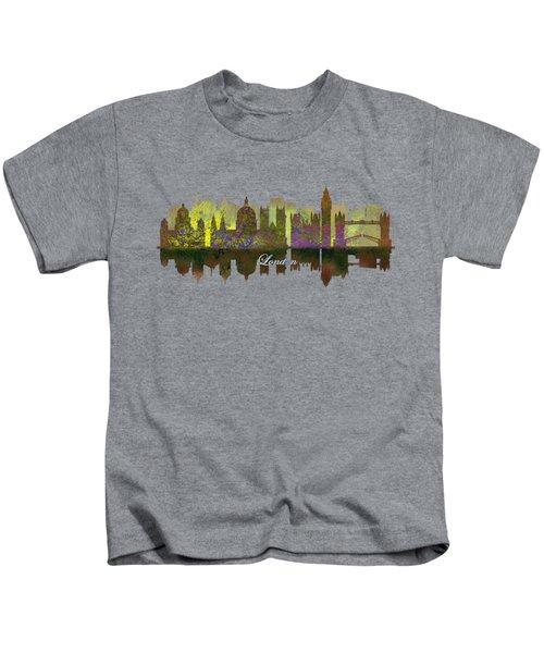 London England Skyline In Golden Light Kids T-Shirt by John Groves