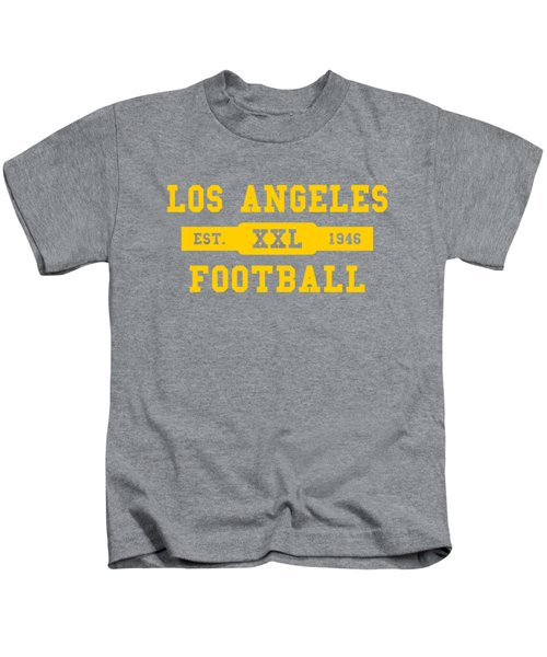 Los Angeles Rams Retro Shirt Kids T-Shirt by Joe Hamilton