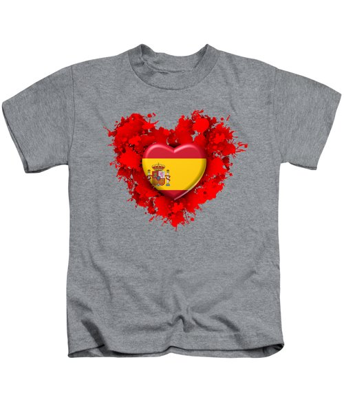 Love Spain 1 Kids T-Shirt by Alberto RuiZ