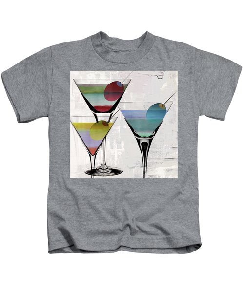 Martini Prism Kids T-Shirt by Mindy Sommers