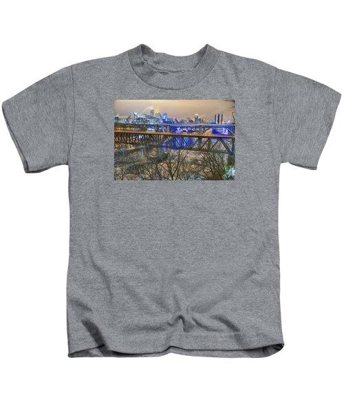 Minneapolis Bridges Kids T-Shirt by Craig Voth