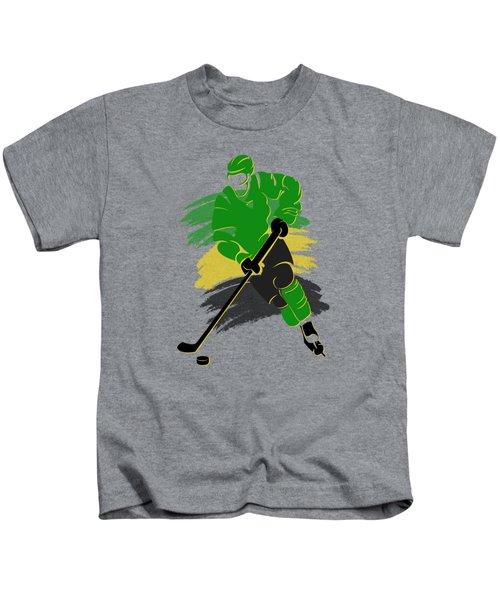 Minnesota North Stars Player Shirt Kids T-Shirt by Joe Hamilton