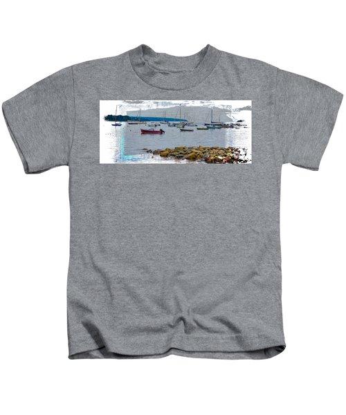 Moorings Mug Shot Kids T-Shirt by John M Bailey