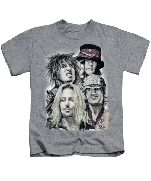 Motley Crue Kids T-Shirt by Melanie D